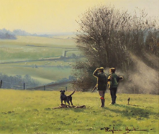 Stephen Hawkins, 'The Country Pursuit, North Yorkshire' Oil on canvas
