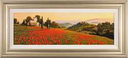 Steve Thoms, Original oil painting on panel, Rolling Hills of Tuscany Large image. Click to enlarge
