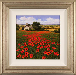 Steve Thoms, Original oil painting on panel, Yorkshire Poppies Large image. Click to enlarge
