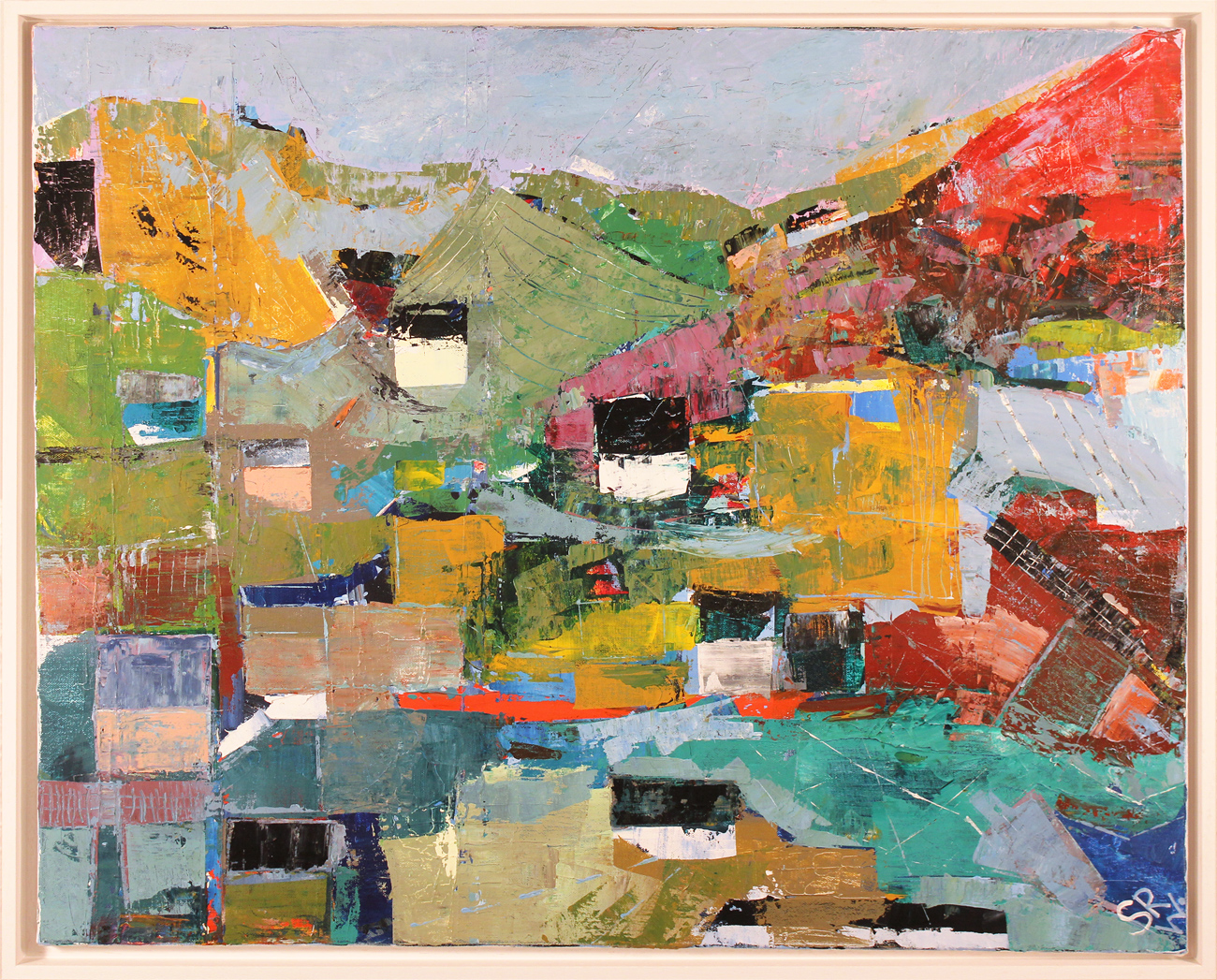 Steve Williams, Original acrylic painting on canvas, North Yorkshire Hamlet, click to enlarge