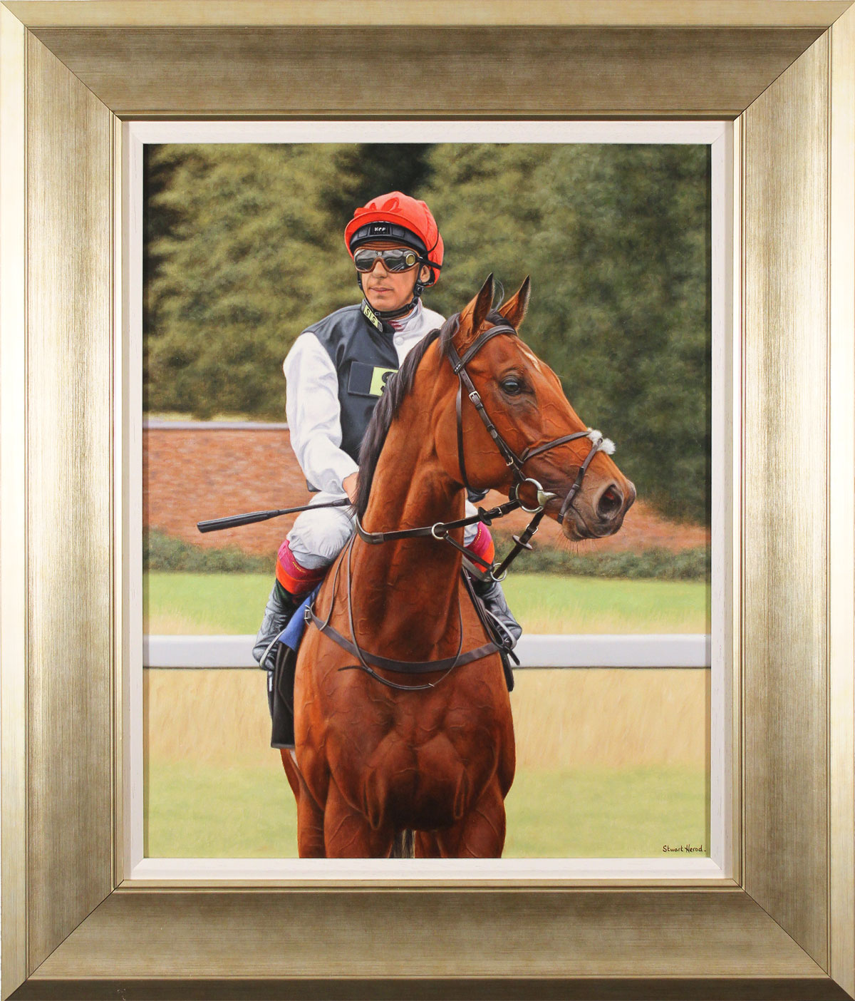 Stuart Herod, Original oil painting on canvas, Cracksman, click to enlarge