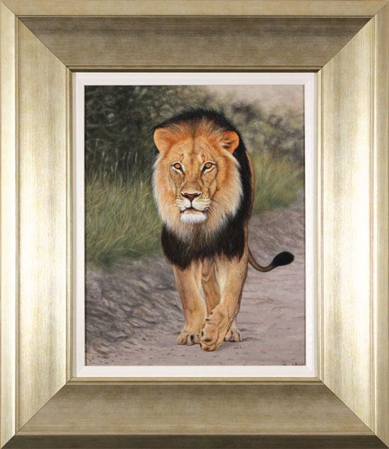 Stuart Herod, Original oil painting on panel, Lion
