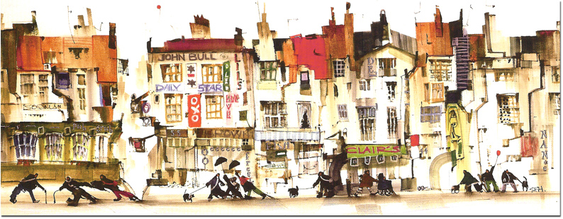 Sue Howells, Signed limited edition print, Open All Hours. Click to enlarge