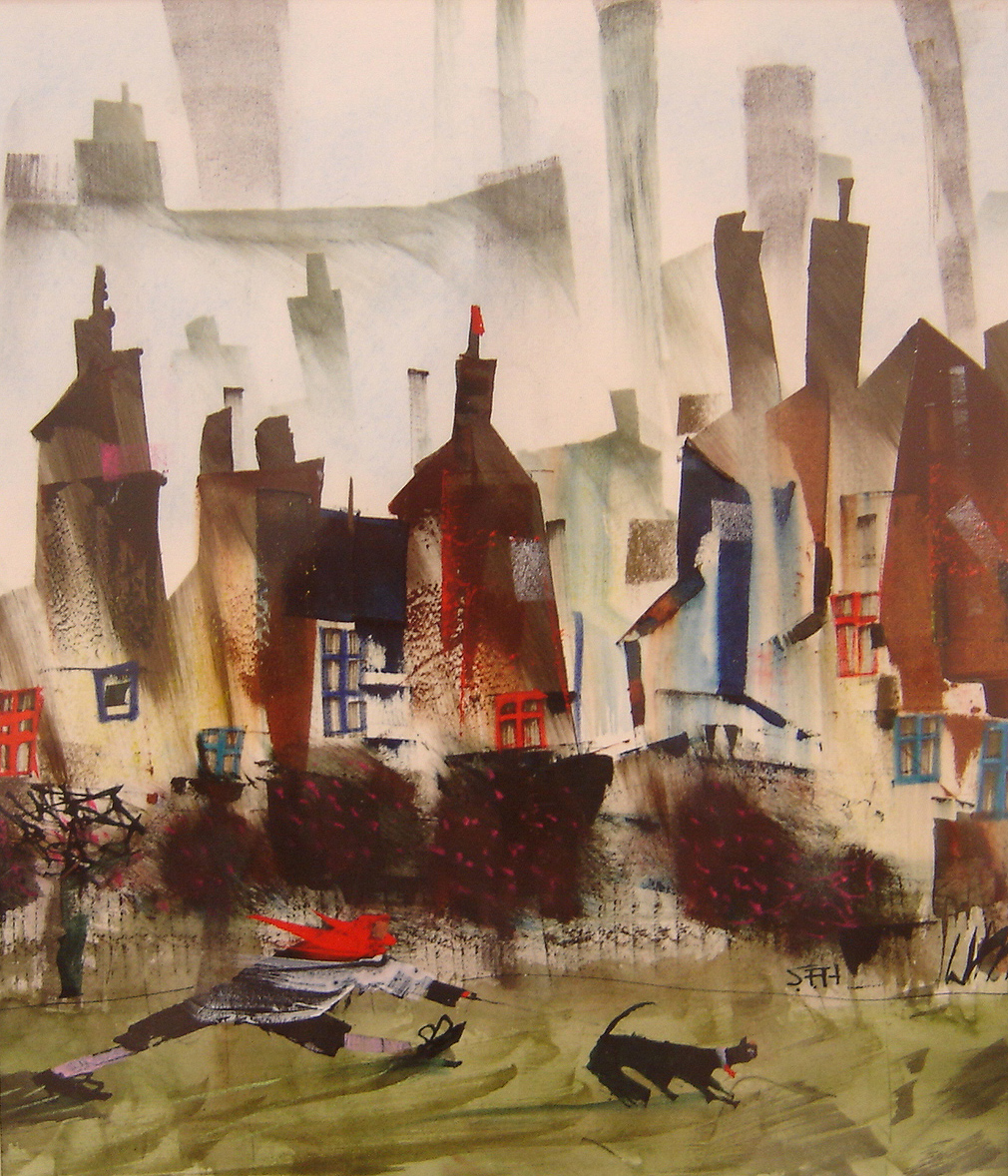 Sue Howells, Watercolour, Next Time It's Kennels. Click to enlarge