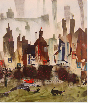 Sue Howells, Watercolour, Next Time It's Kennels Without frame image. Click to enlarge