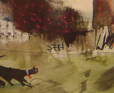 Sue Howells, Watercolour, Next Time It's Kennels Signature image. Click to enlarge