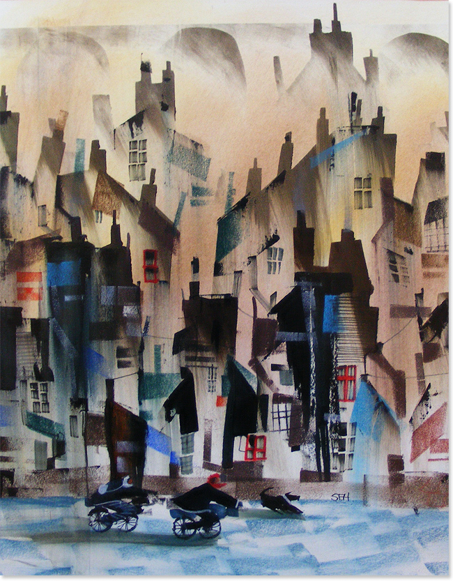 Sue Howells, Watercolour, You Lead I'll Follow, click to enlarge