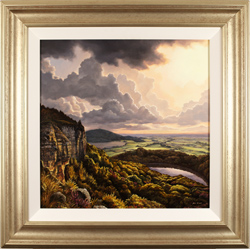 Suzie Emery, Original acrylic painting on board, Sutton Bank, Yorkshire