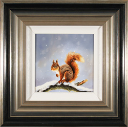 Suzie Emery, Red Squirrel, Original acrylic painting on board
