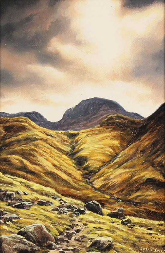 Suzie Emery, Original oil painting on panel, Ennerdale, The Lake District Without frame image. Click to enlarge