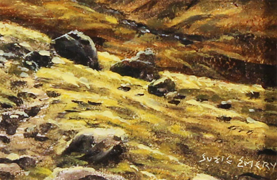 Suzie Emery, Original oil painting on panel, Ennerdale, The Lake District Signature image. Click to enlarge