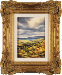 Suzie Emery, Original acrylic painting on board, Dent Head Viaduct Large image. Click to enlarge