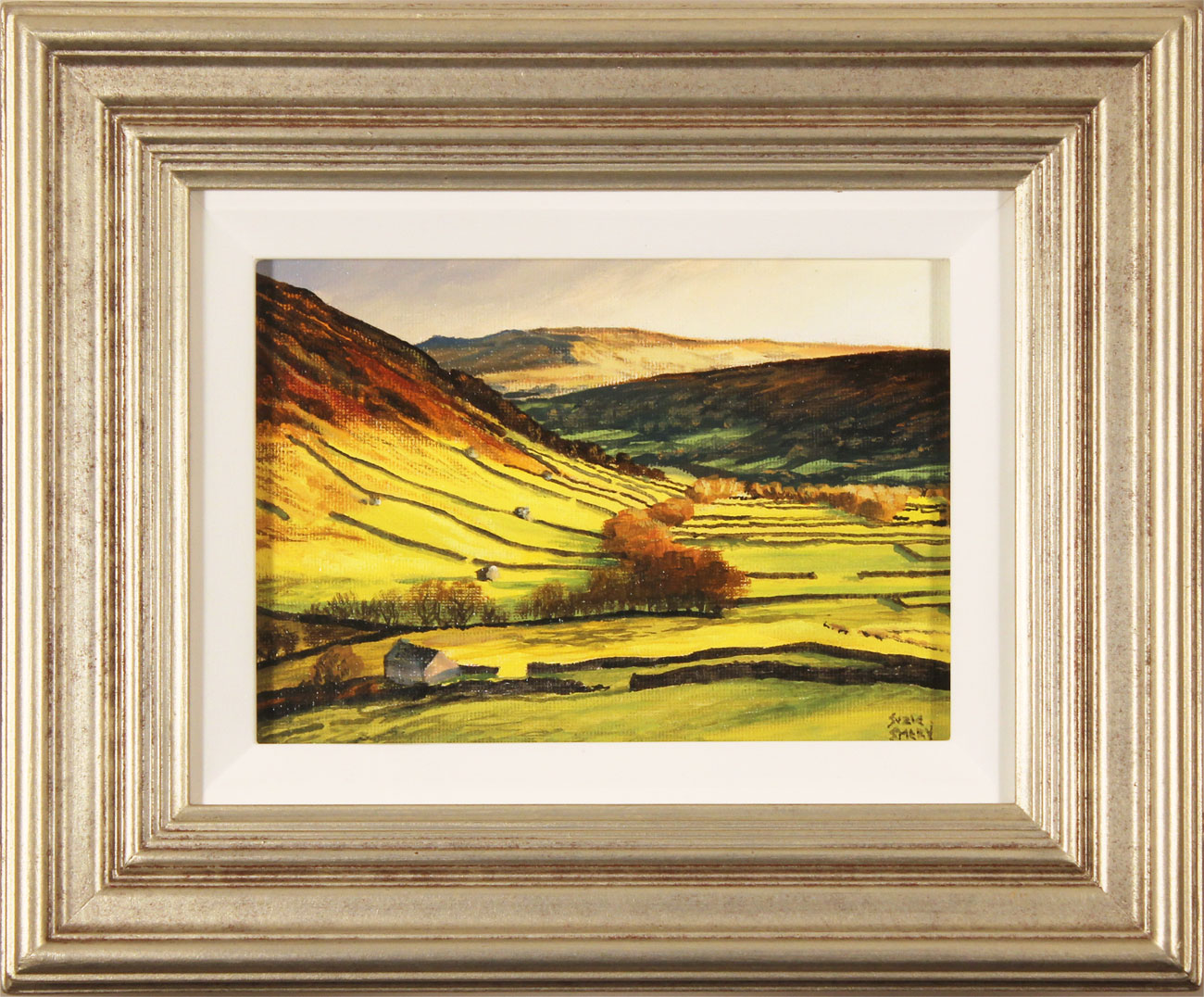 Suzie Emery, Original acrylic painting on board, Swaledale, click to enlarge