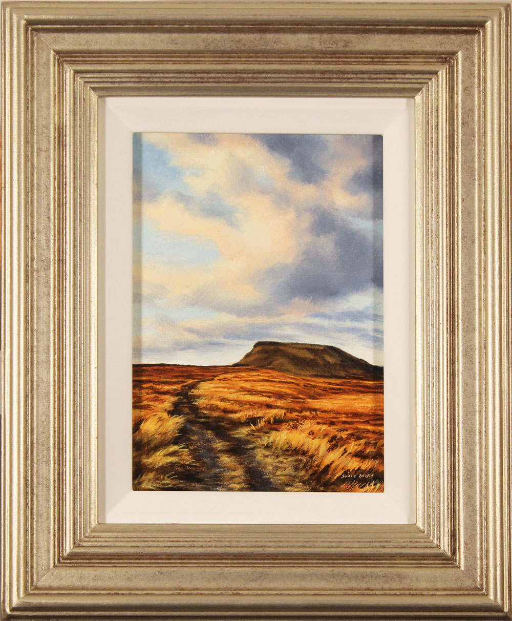 Suzie Emery, Original acrylic painting on board, Ingleborough, Yorkshire Dales. Click to enlarge