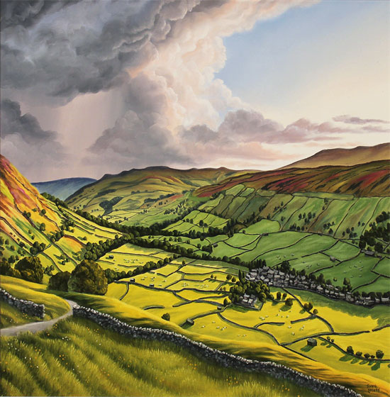 Suzie Emery, Original acrylic painting on board, Yorkshire Dales Without frame image. Click to enlarge