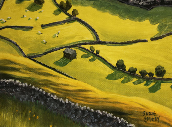 Suzie Emery, Original acrylic painting on board, Yorkshire Dales Signature image. Click to enlarge