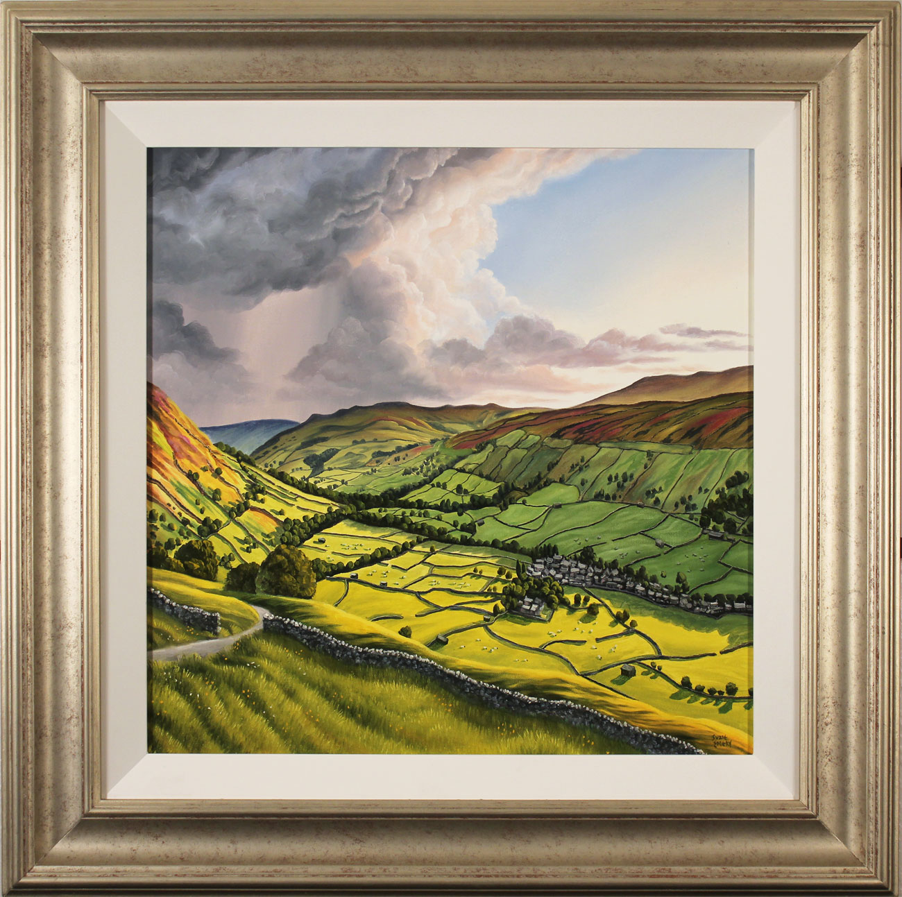 Suzie Emery, Original acrylic painting on board, Yorkshire Dales. Click to enlarge