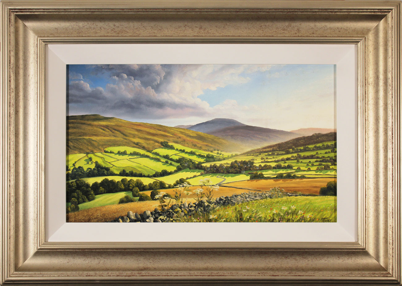 Suzie Emery, Original acrylic painting on board, Swaledale, Yorkshire. Click to enlarge