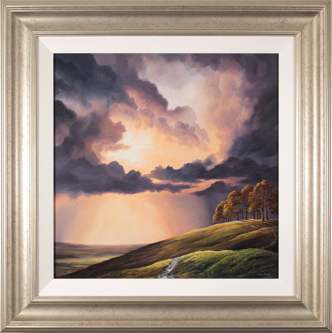 Suzie Emery, Original acrylic painting on board, Chiltern Ridgeway near Avebury , click to enlarge