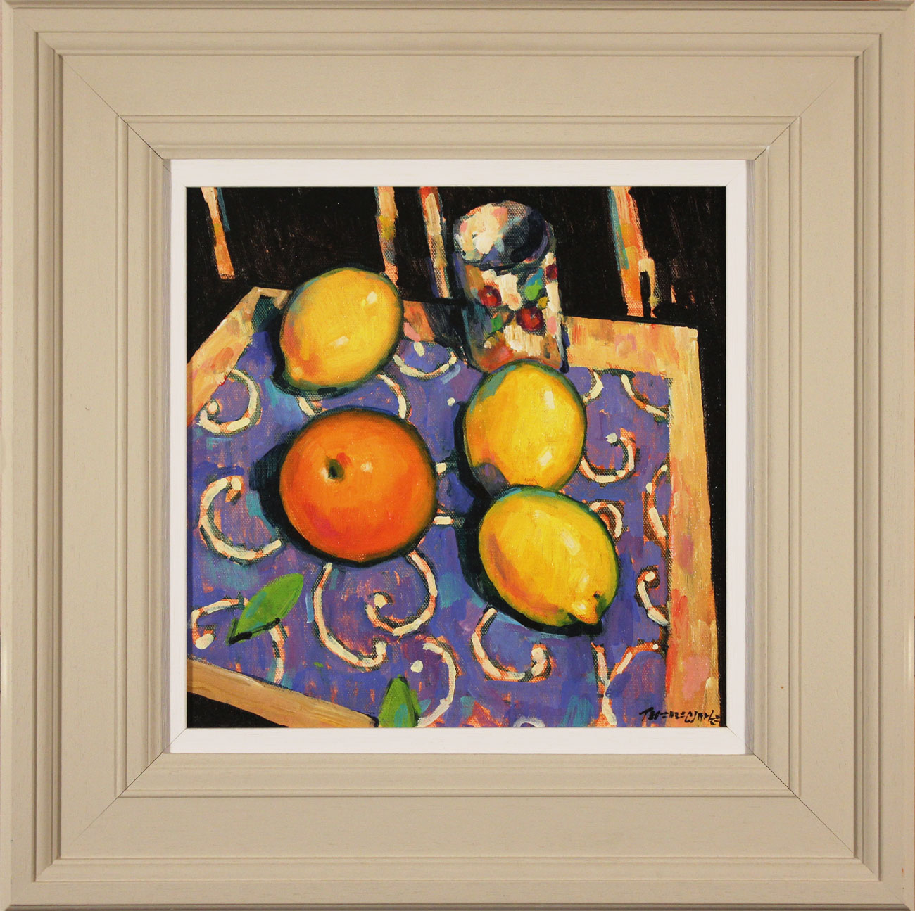 Terence Clarke, Original acrylic painting on canvas, Spanish Lemons, click to enlarge