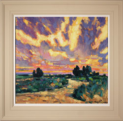 Terence Clarke, Original oil painting on canvas, Delfland Sunset