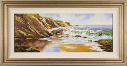 Terry Evans, Original oil painting on canvas, Crashing Tides