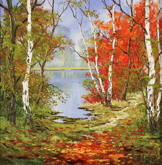 Terry Evans, Original oil painting on canvas, Autumn Days