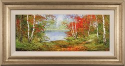 Terry Evans, Original oil painting on canvas, First Days of Autumn