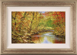 Terry Evans, Original oil painting on canvas, Autumn Brook