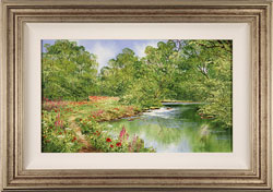 Terry Evans, Original oil painting on canvas, Beside the Brook