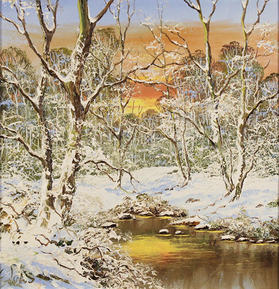 Terry Evans, Original oil painting on canvas, Winter in the Yorkshire Dales
