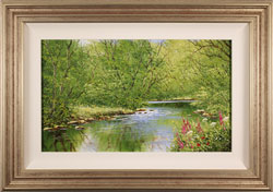 Terry Evans, Midsummer by the River, Original oil painting on canvas