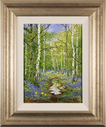 Terry Evans, Original oil painting on canvas, Bluebell Wood Large image. Click to enlarge