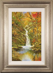 Terry Evans, Autumn Gold, Janet's Foss, North Yorkshire, Original oil painting on canvas