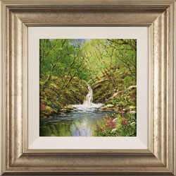 Terry Evans, Original oil painting on canvas, Janet's Foss, North Yorkshire