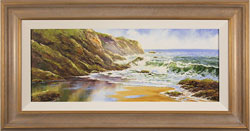 Terry Evans, Original oil painting on canvas, Crashing Waves