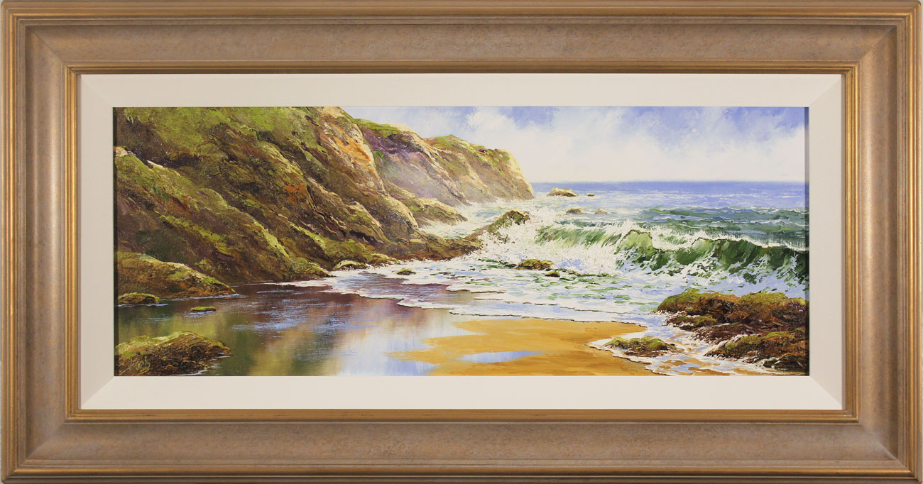 Terry Evans, Original oil painting on canvas, Crashing Waves, click to enlarge