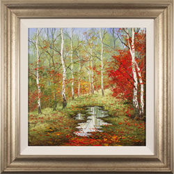 Terry Evans, Autumn Birch, Original oil painting on canvas