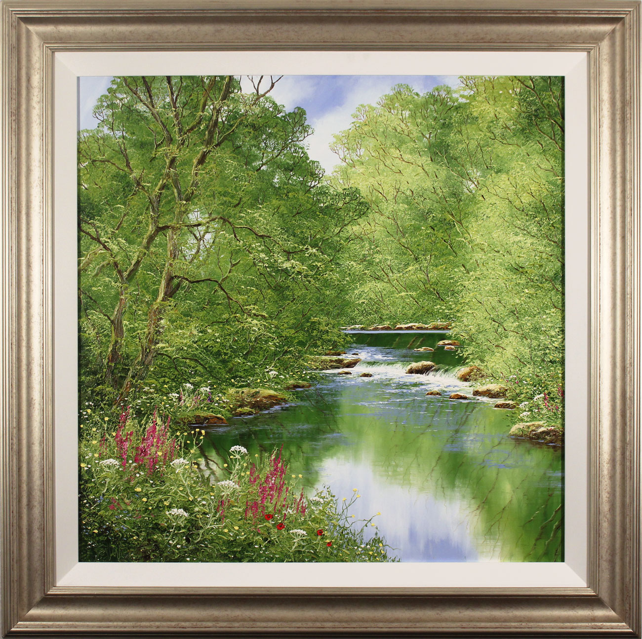 Terry Evans, Original oil painting on canvas, Quiet of the Wood. Click to enlarge