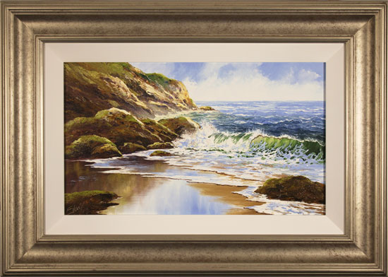 Terry Evans, Original oil painting on panel, Crashing Tides