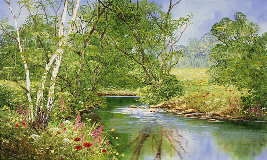 Terry Evans, Original oil painting on canvas, Peaceful Midsummer