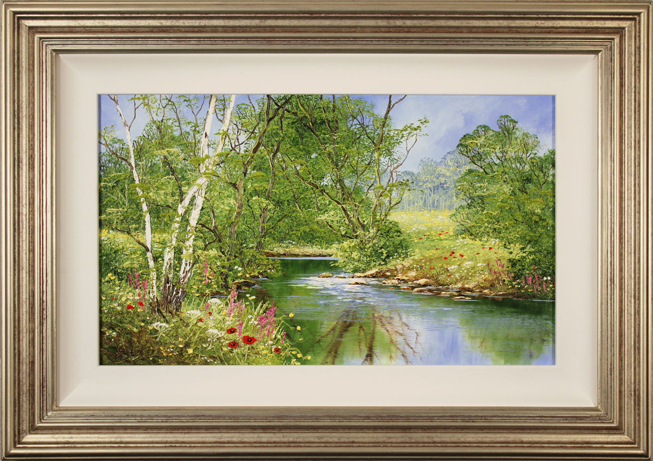 Terry Evans, Original oil painting on canvas, Peaceful Midsummer , click to enlarge