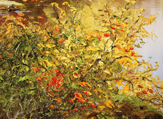 Terry Evans, Original oil painting on canvas, Colours of Autumn Signature image. Click to enlarge