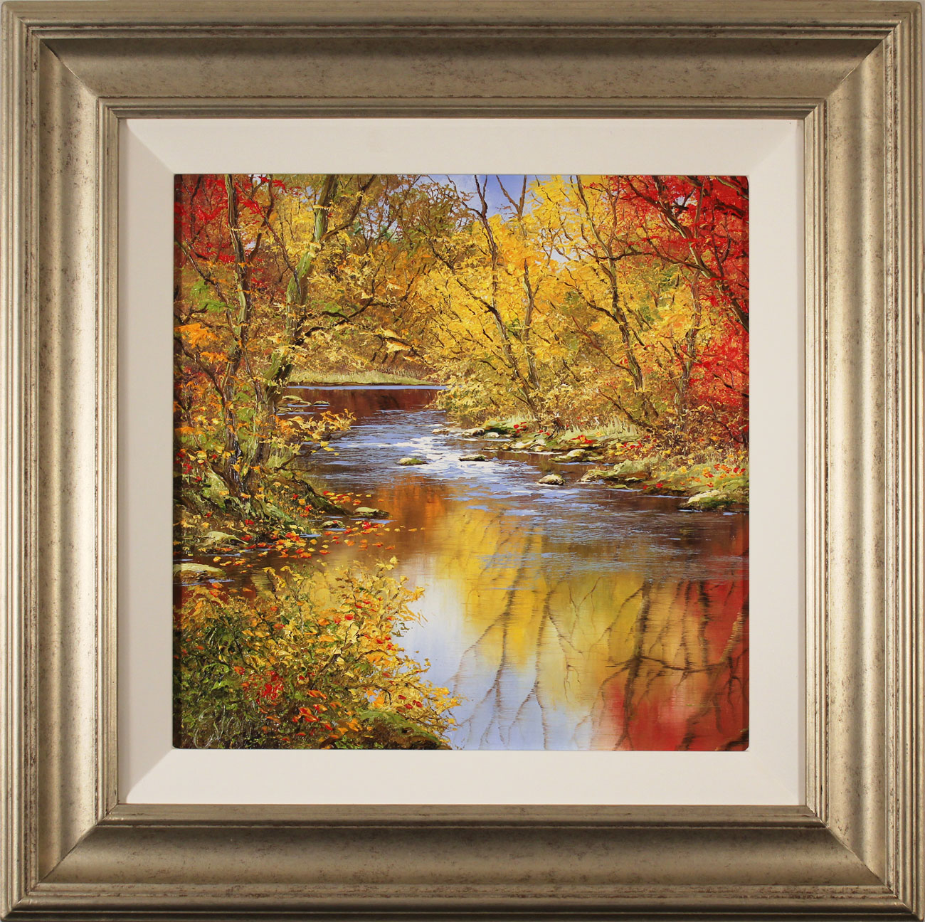 Terry Evans, Original oil painting on canvas, Colours of Autumn. Click to enlarge