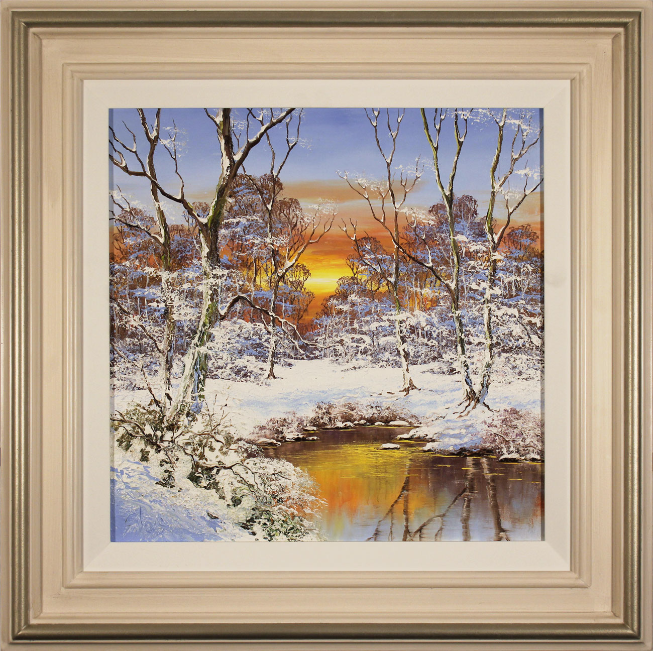 Terry Evans, Original oil painting on canvas, Winter Wood, click to enlarge