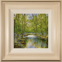 Terry Evans, Original oil painting on panel, Woodland Pool