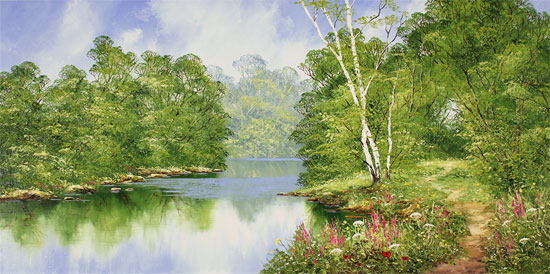 Terry Evans, Original oil painting on canvas, Around the Bend No frame image. Click to enlarge