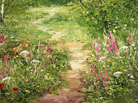 Terry Evans, Original oil painting on canvas, Around the Bend Signature image. Click to enlarge