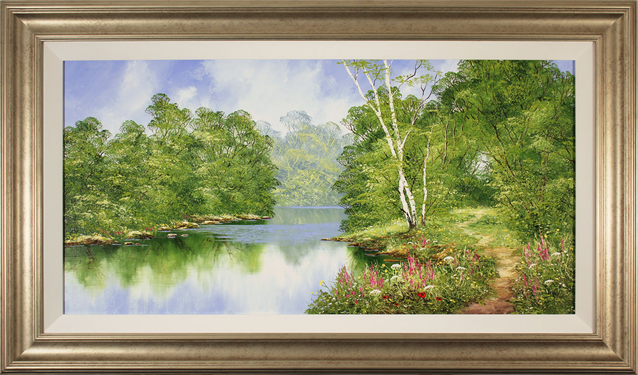 Terry Evans, Original oil painting on canvas, Around the Bend. Click to enlarge