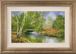Terry Evans, Original oil painting on canvas, Woodland Poppies Large image. Click to enlarge